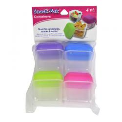 4pcs Square Mini Food Containers-80023