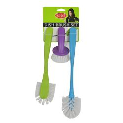 3pcs Plastic Dish Brushes-97690